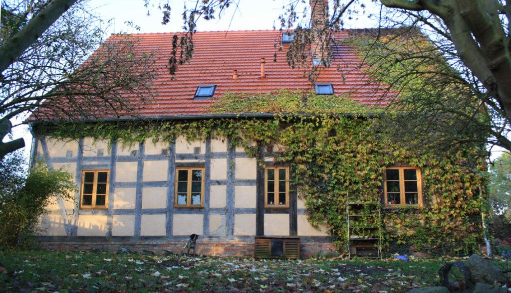 Fachwerk, Gartenseite von Altwriezen 16